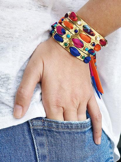 Bracelet incrusté de Lapis Lazuli