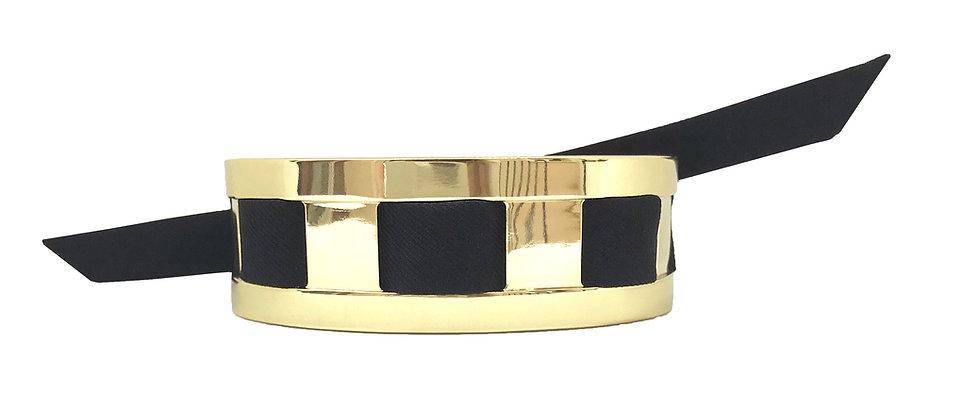Petite Manchette JMA de 2 cm - Bracelet Noir