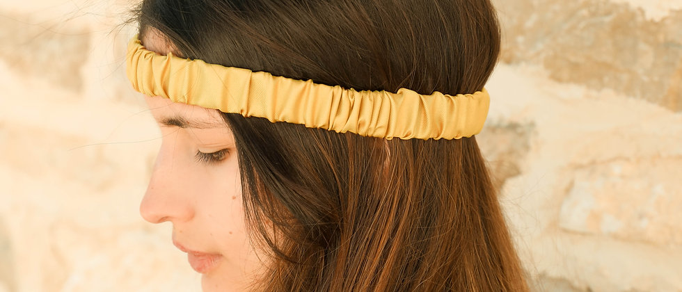Headband froncé - Jaune fané