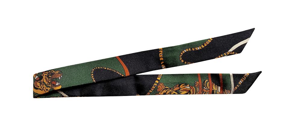 Ruban 2cm - Le Tigre, vert