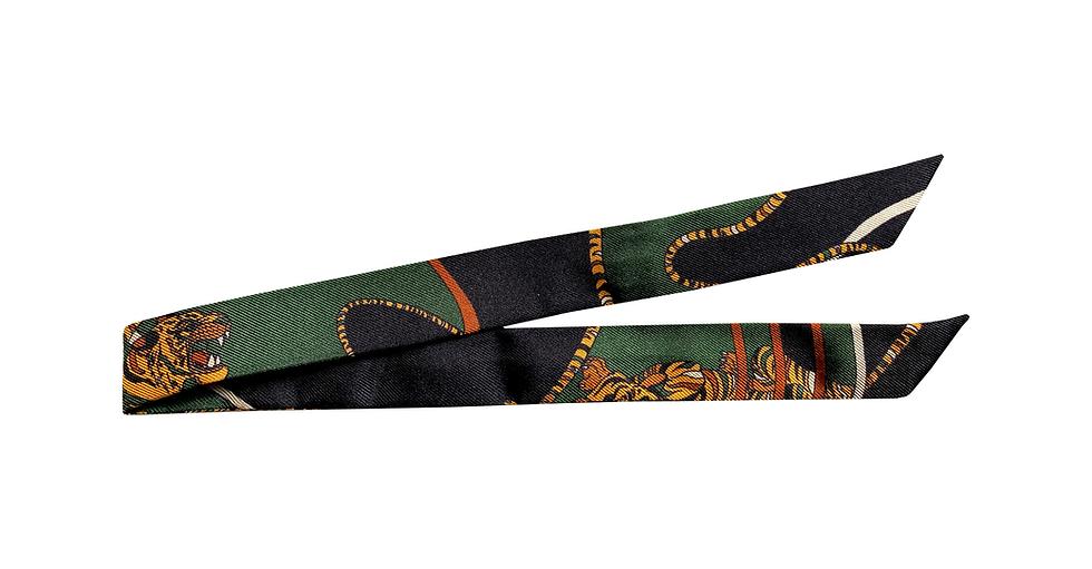 Ruban 1cm - Le Tigre, vert