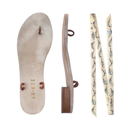 Sandales Horae - Lacets La Bataille / Rose Poudré