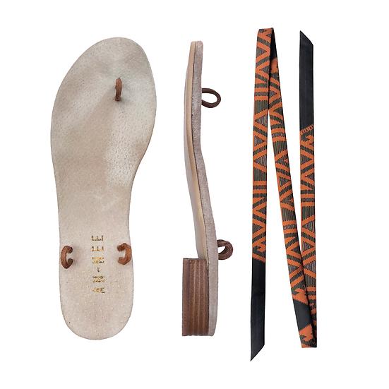 Sandales Horae - Lacets Tapis Volant, Carotte