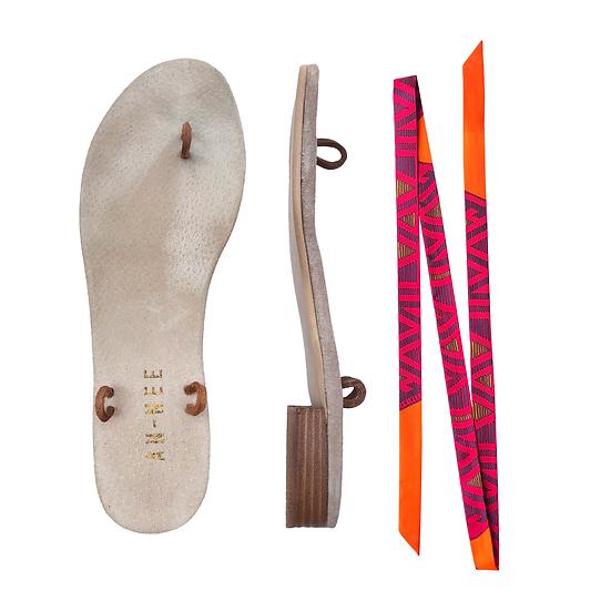 Sandales Horae - Lacets Tapis Volant, Orange