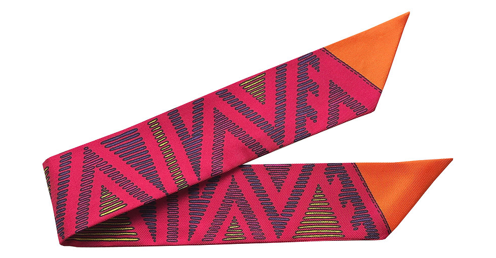 Bracelet Tapis Volant - Orange et fuchsia