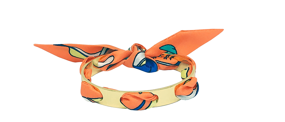 Bracelet Proust - Ruban La Bataille Orange