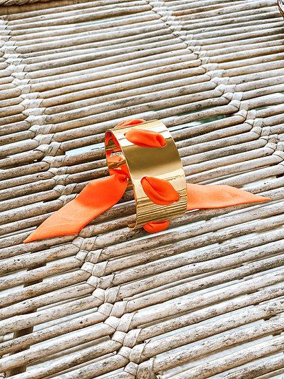 Manchette Proust et ruban Orange