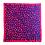 Thumbnail: Petit carré 70 cm - Léopard - Fuschia