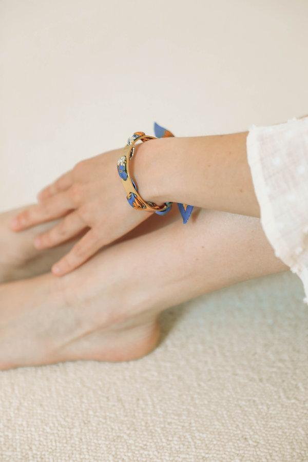 Bracelet Proust AN-NEE tissé d'un ruban de soie
