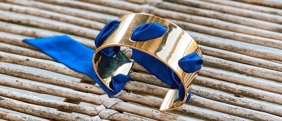 Manchette Proust et ruban Bleu Electrik