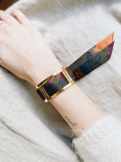 Manchette JMA de 3 cm - Bracelet L'Aigle khaki