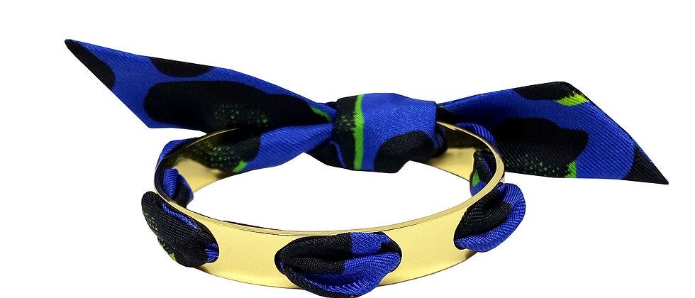 Bracelet Proust - Leopard Bleu Electrique