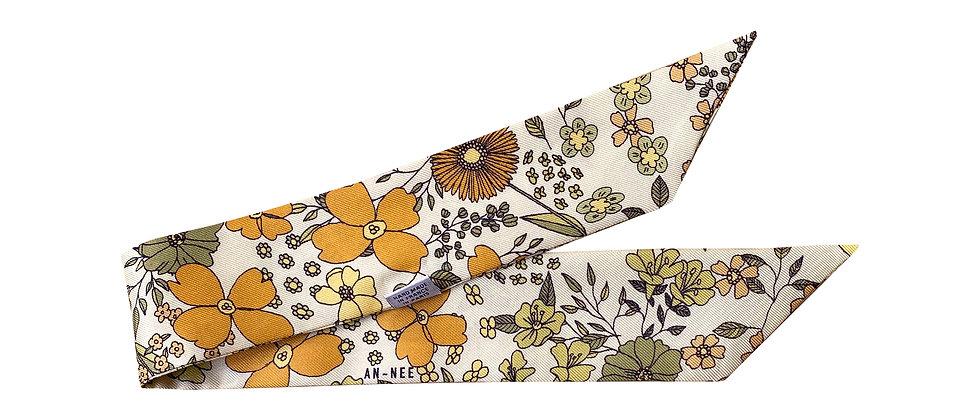Bracelet 4cm - Liberty, blanc cassé