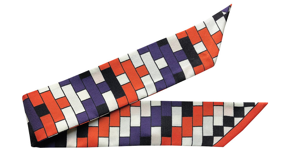 Bracelet 4cm - Mosaïques, Orange et violet