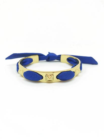 Bracelet Clous et ruban Bleu électrique