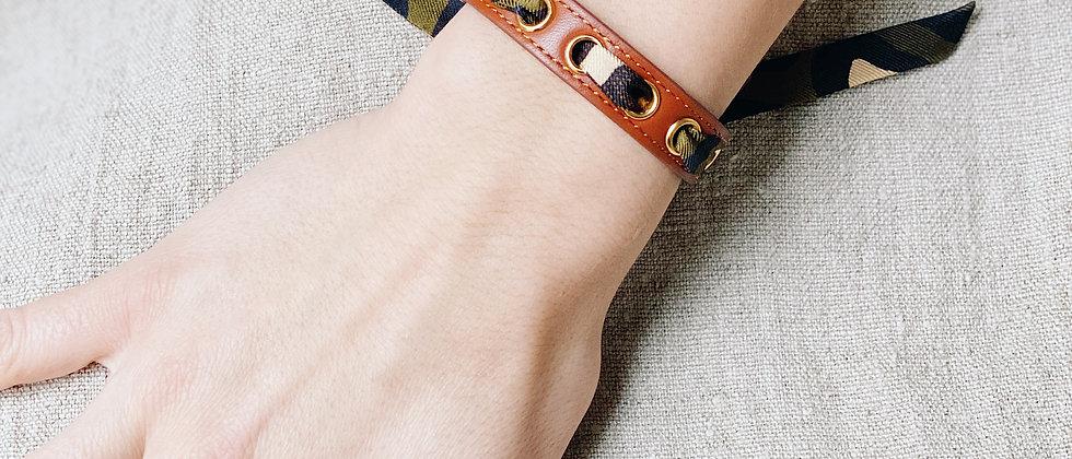 Bracelet camel Cycle, ruban Le Zèbre, khaki