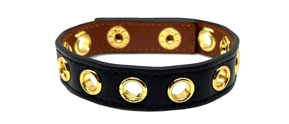 Bracelet noir Cycle, sans soie