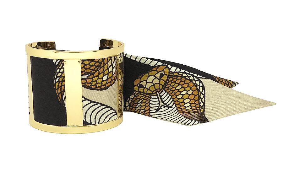 Grande Manchette JMA et le bracelet Cobra Sable