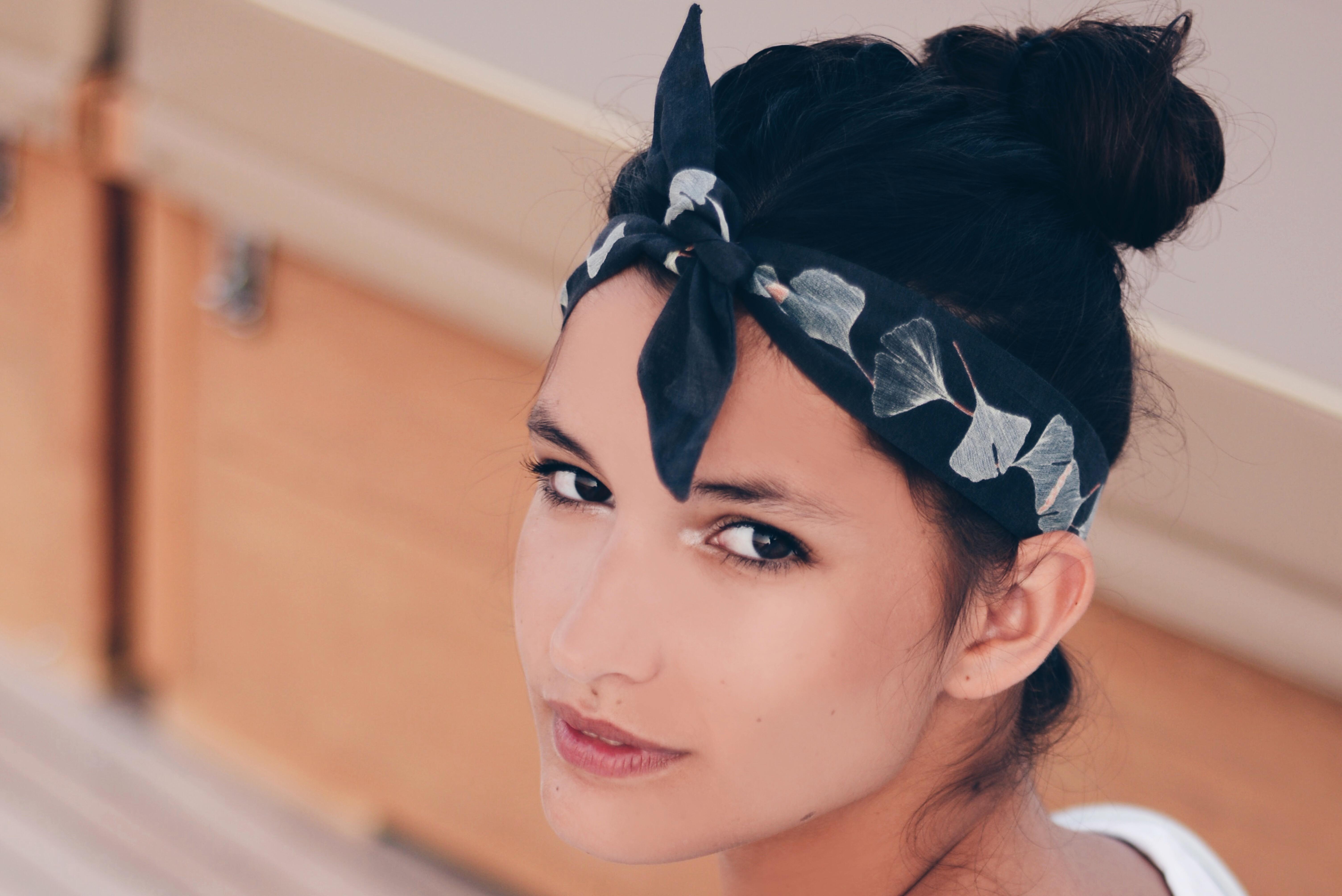 Petit headband Feuilles - Savane