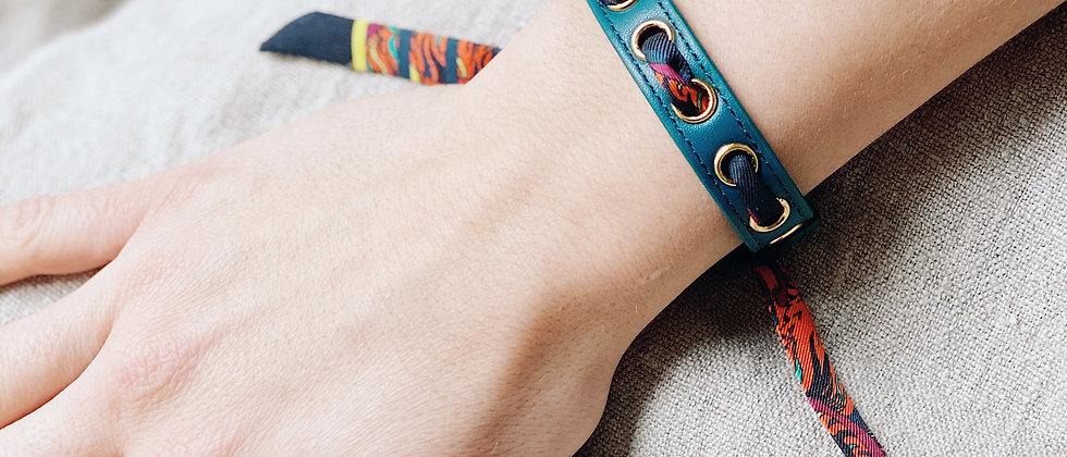 Bracelet octane Cycle & ruban Tigre, cerise