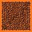 Thumbnail: Petit carré 70 cm - Léopard - orange