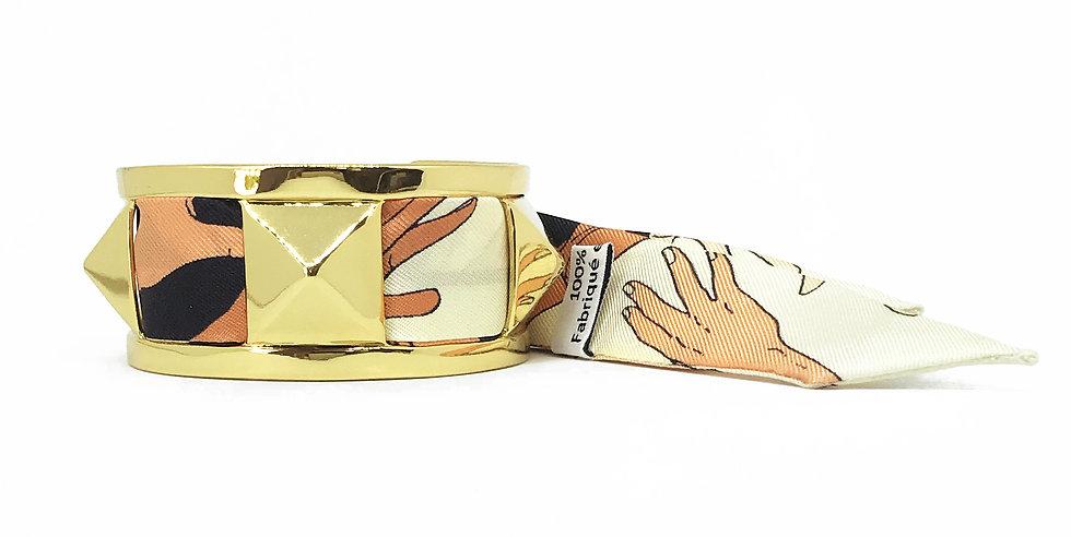 Manchette 3cm CLOU - Bracelet Jeu de mains, colori Nude