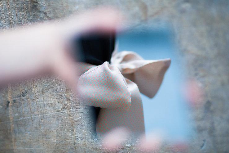 Ceinture en soie ANNEE - PEAU - par Alexia Nokovitch