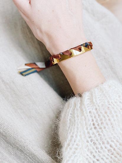 Bracelet Proust et ruban Libre blanc cassé