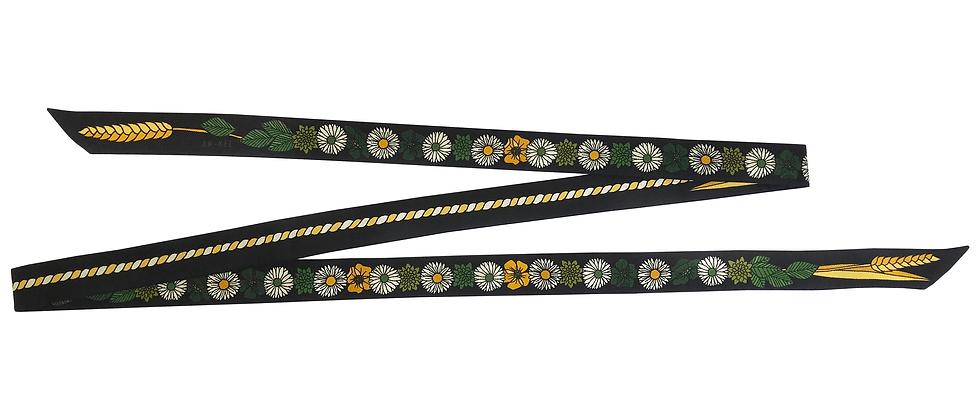 Headband ruban Fleurettes - Noir