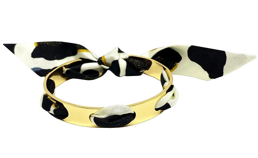 Bracelet Proust - Leopard Blanc cassé