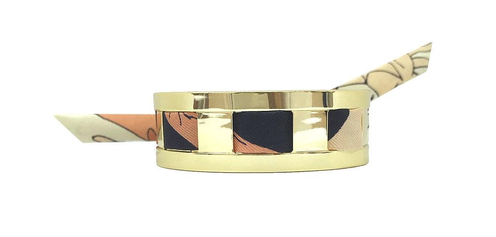 Petite Manchette JMA de 2 cm - Bracelet Jeu de mains,Nude