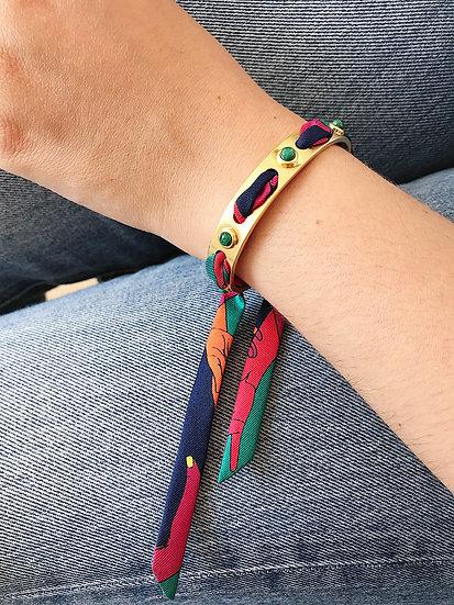 Bracelet incrusté de Malachite
