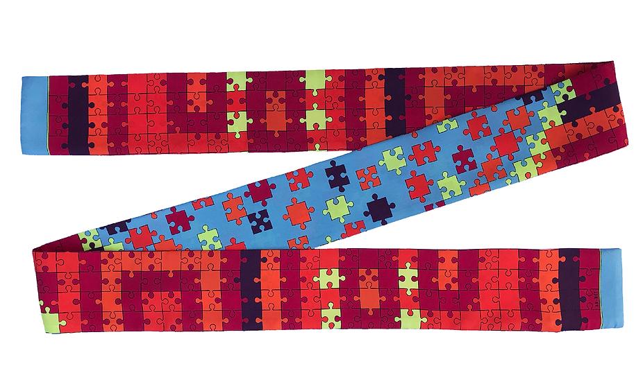 Headband ceinture Puzzle - Colori Acidulé