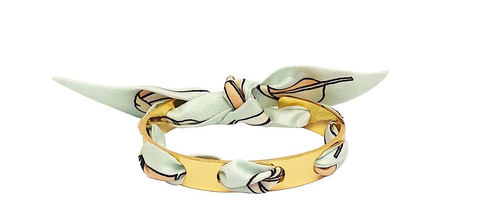 Bracelet Proust - Ruban La Bataille Vert d'eau