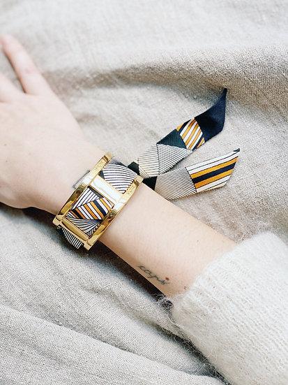 Manchette JMA de 3 cm - Bracelet Libre,noir