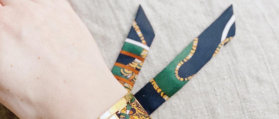 Manchette JMA de 3 cm - Bracelet Le Tigre, vert