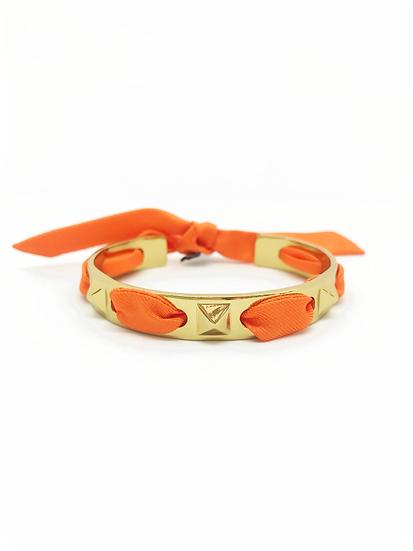 Bracelet Clous et ruban Orange