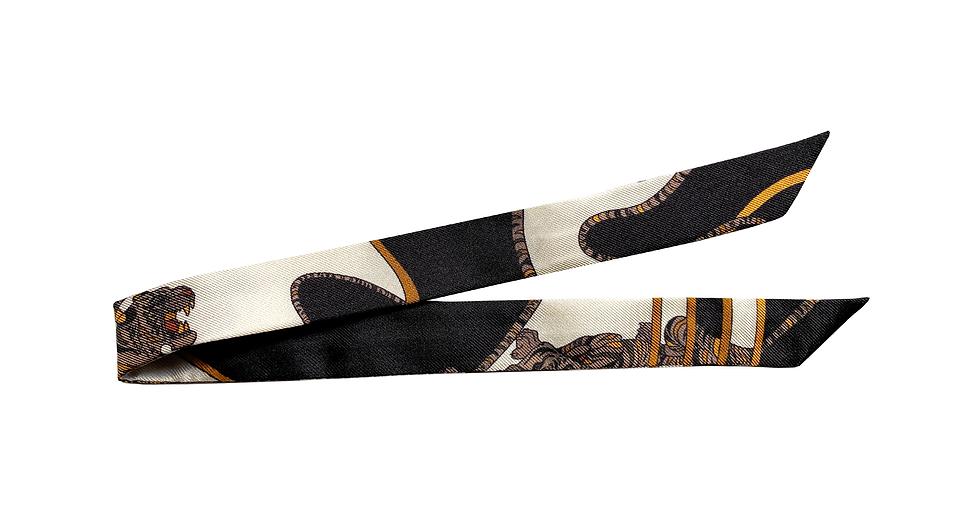 Ruban 1cm - Le Tigre, blanc cassé