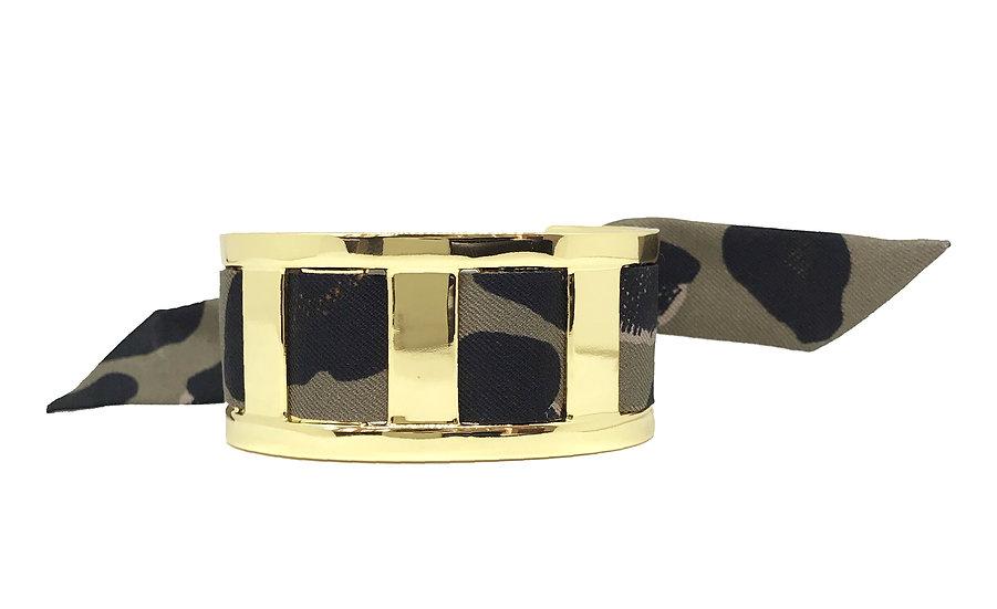 Manchette JMA de 3 cm - Bracelet Léopard, Taupe