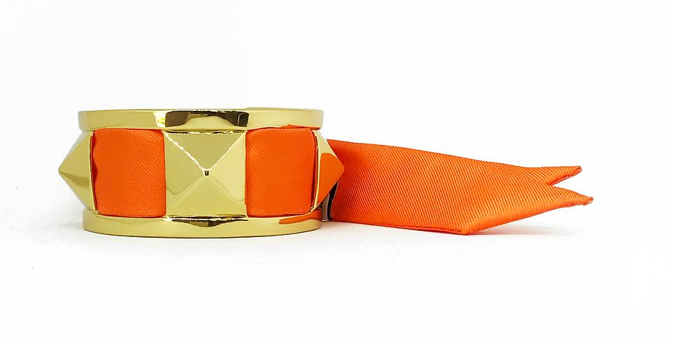 Manchette 3cm CLOU - Bracelet Orange
