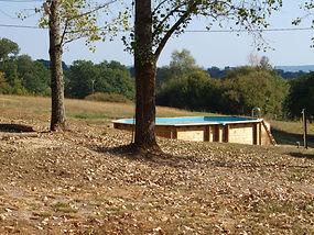 La piscine face au Levant