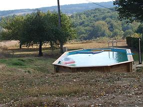 Vue de la piscine vers le Sud