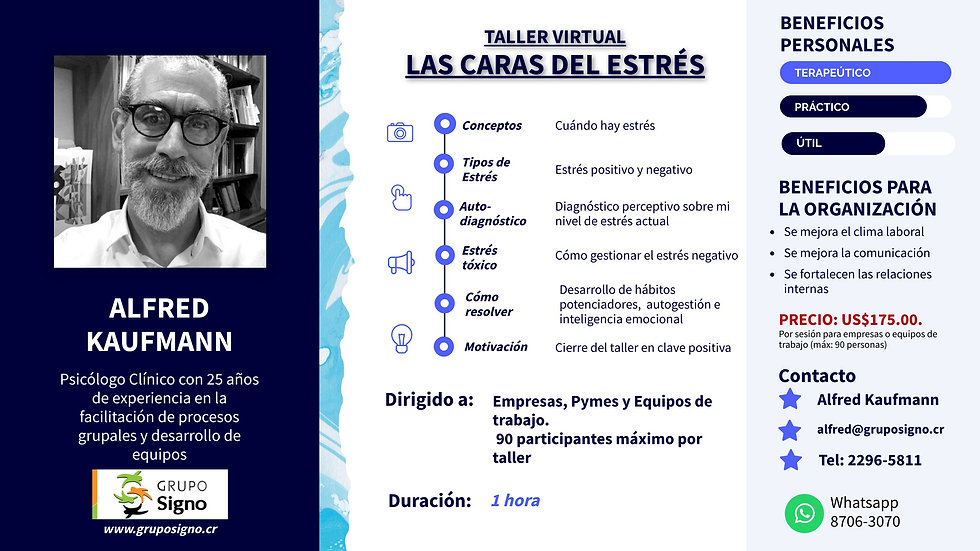 TALLER VIRTUAL SOBRE EL MANEJO DEL ESTRÉ