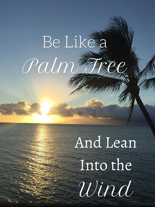 Be Like A Palm Tree And Lean Into The Wind