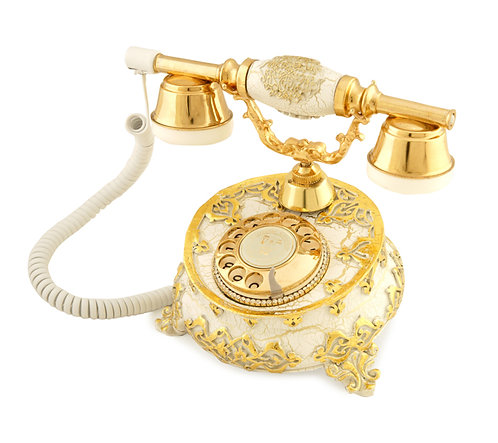 Villa Ayaklı Varaklı Swarovski Taşlı Telefon