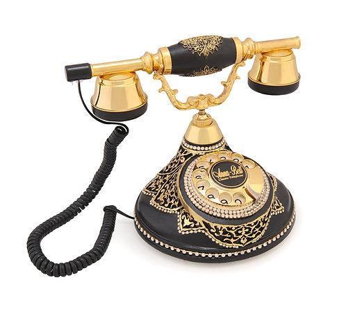 Antik Damla Varaklı Klasik Telefon