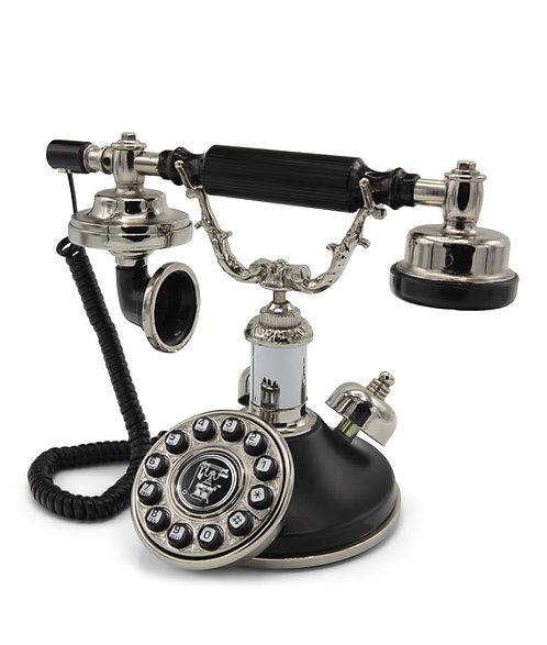 Villa Stork Siyah Gümüş Klasik Telefon