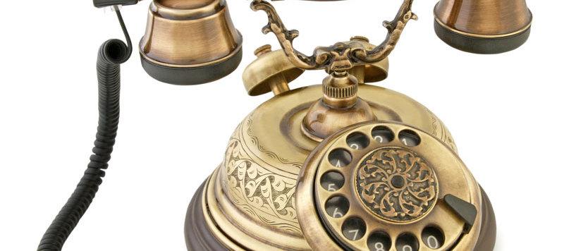 El Dekorlu Nostaljik Telefon