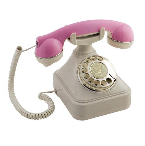 Pembe Krem Klasik Telefon