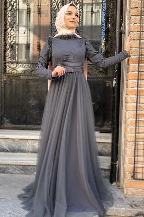 Abiye Elbise Uzun Kollu